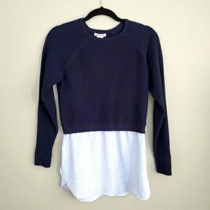 Club Monaco Navy Sweater Sz XS
